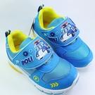 【樂樂童鞋】【台灣製現貨】POLI波力閃燈運動鞋 P037 - 現貨 台灣製 男童鞋 運動鞋 休閒鞋 布鞋