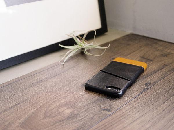 alto iPhone 8 / iPhone 7 真皮手機殼背蓋 4.7吋 Metro  - 渡鴉黑/焦糖棕 【可加購客製雷雕】皮革保護套