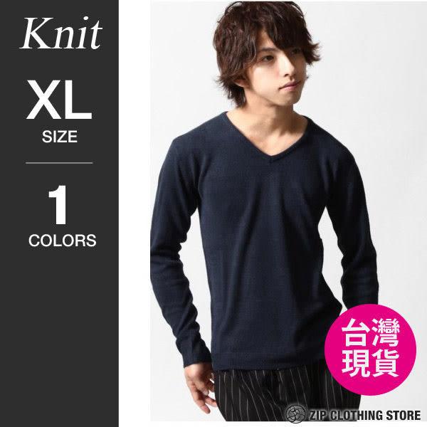 現貨毛衣V領針織衫