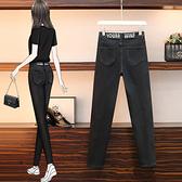 高腰牛仔褲女中大尺碼M-5XL梨形身材女褲子大碼胖妹妹洋氣顯瘦時尚牛仔褲F3F132韓衣裳