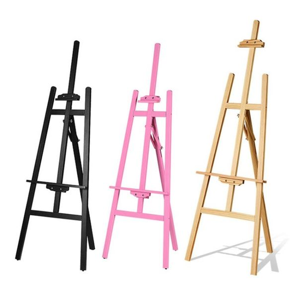 icolour實木畫架畫板套裝素描寫生4K畫板支架式油畫架成人美術繪畫黃鬆摺疊畫架 生活樂事館