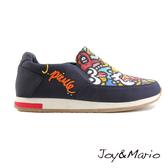 【Joy&Mario】歐美塗鴉厚底休閒男鞋 - 73037M NAVY 美碼7.5