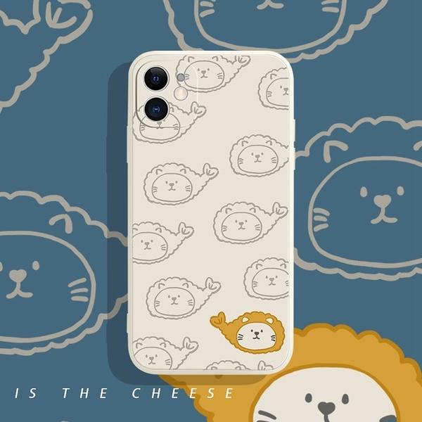 iPhone12 蘋果手機殼 預購 可掛繩 炸蝦貓咪 矽膠軟殼 i11/iX/i8/i7/SE