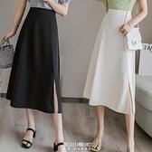 適合胯大腿粗裙子女2020新款春高腰顯瘦a字半身長裙中長款大擺裙 快速出貨
