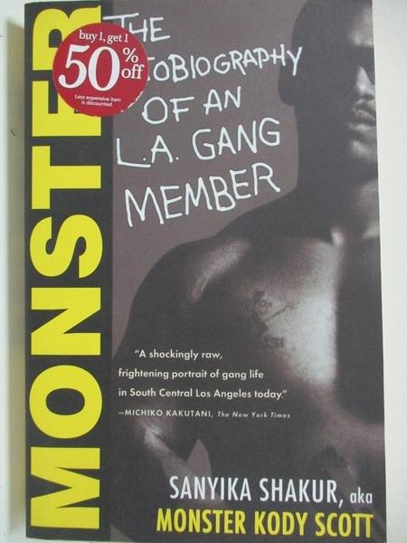 【書寶二手書T4/原文書_B5Q】Monster: The Autobiography of an L.A. Gang Member_Shakur, Sanyika