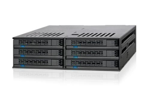"ICY DOCK ExpressCage 六層式 2.5"" SATA HDD & SSD 轉一5.25"" 裝置空間 熱插拔 硬碟背板模組 MB326SP-B"