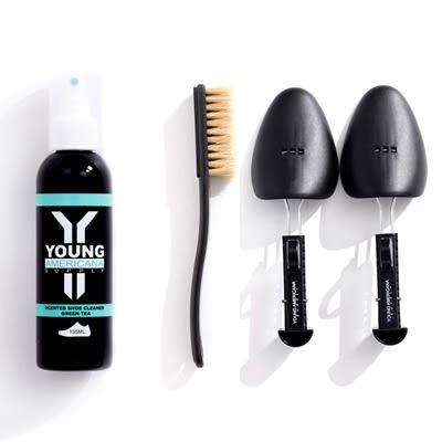 【一加一配件組】Y.A.S 美鞋神器 基本組 - 洗鞋劑 + 鞋撐 (綠茶)