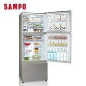 【SAMPO 聲寶】475L三門變頻冰箱SR-C48DV(Y1) 彩紋金