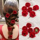 新娘髮飾  頭花復古夾子花朵配飾