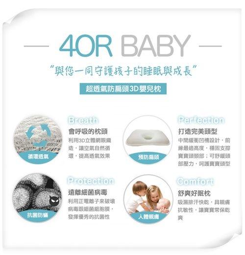 Milo & Gabby 動物好朋友-超透氣防扁頭3D嬰兒枕[衛立兒生活館]