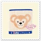 ♥小花花日本精品♥ 迪士尼 海洋樂園限定 Duffy 達菲 大臉圖 藍色邊 方形 毛巾 方巾 96509203