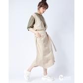 CANTWO JEANS不對稱棉麻肩帶連身裙-二色-奶茶~初秋換季~限時激殺3折