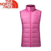 【The North Face 女款 700fP 羽絨背心《粉》】3651BA0/保暖背心/內搭背心★滿額送