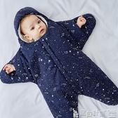 兒童睡袋 嬰兒睡袋新生兒薄款秋冬寶寶抱被0-3-6個月防踢被神器海星睡袋JD 寶貝計畫