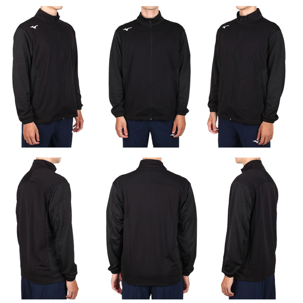 MIZUNO 男針織運動外套(免運 吸濕速乾 抗UV 慢跑 立領外套 美津濃≡體院≡ 32TC0533