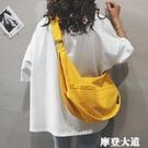 帆布大包包女包新款2020大容量單肩斜挎包純色百搭ins休閒布袋包『摩登大道』