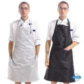 圍裙圍裙 防水PVC廚房簡約工作服 正韓時尚防水防油廚師圍裙男