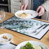 有顏值pvc防水餐墊ins防油防滑隔熱墊創意餐桌墊餐具西餐墊茶幾墊 東京衣秀