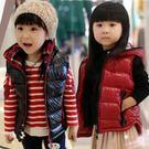韓版《亮面舖棉款》連帽保暖背心