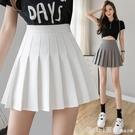 短裙 灰色百褶裙女夏季薄款2021年新款超短裙時尚高腰顯瘦a字半身裙子 618購物節