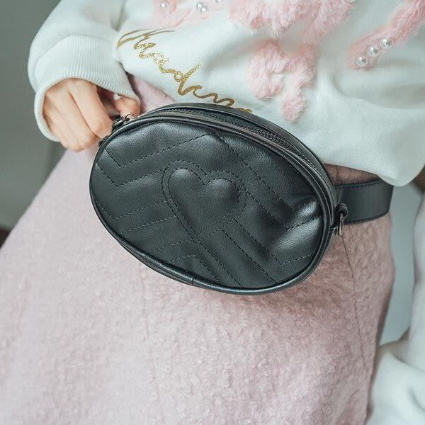 化妝包 橢圓愛心腰包側背包-Ruby s 露比午茶