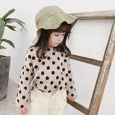 韓系寬鬆滿版圓點長袖上衣 童裝