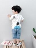 男童短袖T恤潮 寶寶夏裝半袖上衣 洋氣小兒童夏季打底衫韓版2020新