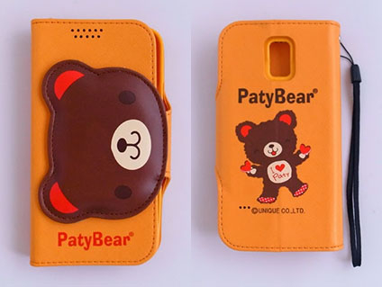 Paty Bear Samsung GALAXY S5 4G LTE(SM-G900I) 側翻手機保護皮套