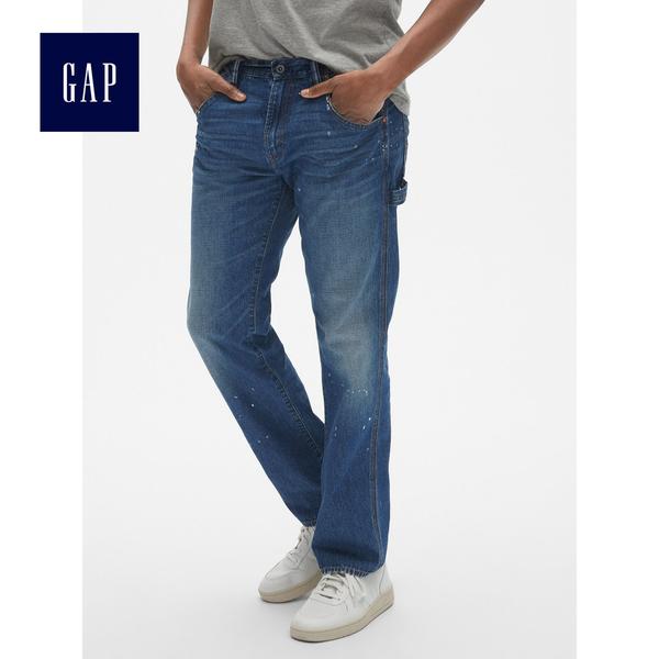 Gap男裝 舒適牛仔長褲499877-油漆印染