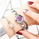 手錶女女士手錶女學生韓版簡約潮流防水時尚可愛少女ins原宿學院風電子 嬡孕哺