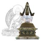 20公分 純銅菩提塔 釋迦牟尼佛 塔底可裝藏 銅色琉璃