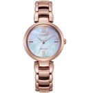 原廠公司貨 白蝶貝錶盤設計 光動能環保充電 球面藍寶石水晶鏡面 料號:EM0532-85D