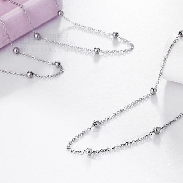 316L白鋼 銀色女性腳鍊 簡約珠珠造型 簡約高雅 高跟鞋女孩必備 單件價【AJS148】Z.MO鈦鋼屋