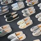 老北京布鞋女一腳蹬懶人薄款平底帆布
