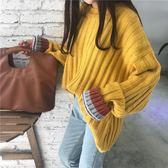 毛衣 慵懶風毛衣秋季女裝韓版寬鬆條紋針織衫學生長袖套頭上衣