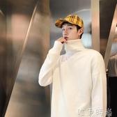 毛衣新款冬季高領毛衣男士套頭針織衫韓版寬鬆毛線衣潮個性打底衫