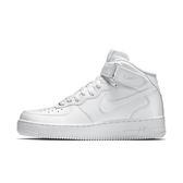 Nike WMNS AIR FORCE 1 MID 女款 經典全白 復古高筒 休閒鞋 NO.366731100
