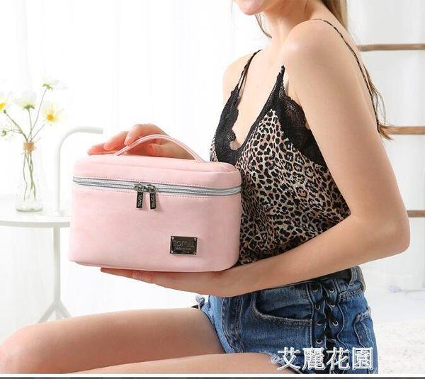 韓國旅行便攜簡約軟妹可愛少女ins網紅化妝包大容量化妝品收納包