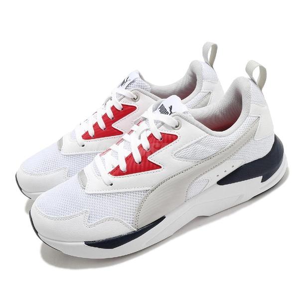 Puma 休閒鞋 X-Ray Lite 白 紅 男鞋 復古慢跑鞋 老爹鞋 運動鞋 【ACS】 37412203