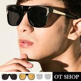 OT SHOP太陽眼鏡‧韓版方框T型裝飾墨鏡‧復古時尚風太陽眼鏡‧抗UV400現貨‧三色‧U16