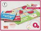 日本原裝進口 彩虹熊大方巾毛巾組-2件入-西瓜系列《Midohouse》
