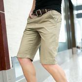 夏天純棉男士休閒短褲男中褲夏季五分褲男裝沙灘褲子寬鬆七分褲男