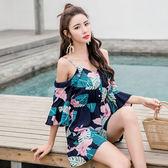 VK精品服飾 韓國風新款復古度假風吊帶連身褲裙套裝短袖褲裝