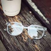 現貨-余文樂透明眼鏡日本手造板材中金純鈦超輕鏡框男復古鏡架女59