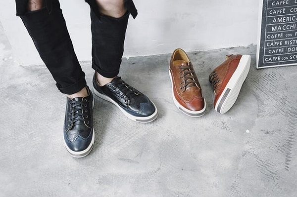 FINDSENSE品牌 新品商務款 簡約男士 舒適拼色 休閑鞋