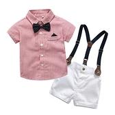兒童禮服套裝夏季男童西裝寶寶一周歲生日抓周滿月服嬰兒花童禮服 幸福第一站