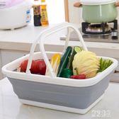 折疊式塑料購物籃買菜手提籃零食雜物收納籃浴室沐浴洗浴洗澡籃子xy2458『東京潮流』