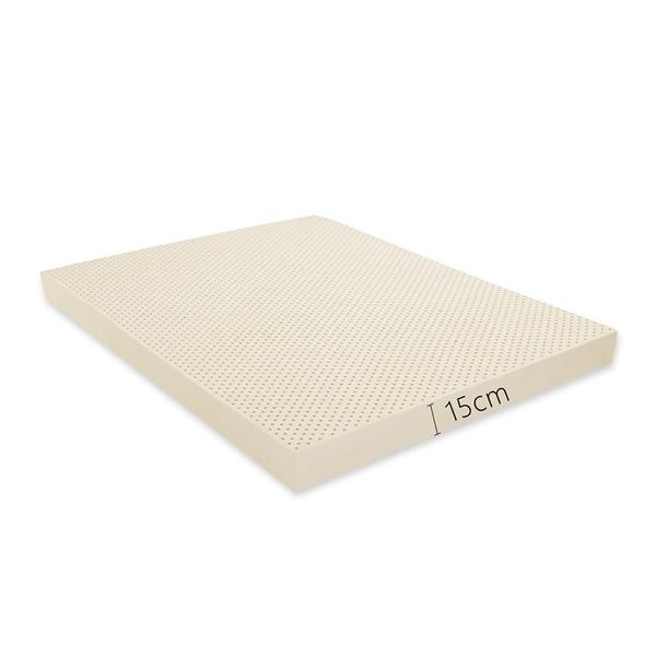 【班尼斯國際名床】【雙人加大6x6.2尺x15cm】全新生產製程鑽石乳膠~百萬馬來保證‧天然乳膠床墊