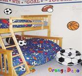 壁貼【橘果設計】球 DIY組合壁貼/牆貼/壁紙/客廳臥室浴室幼稚園室內設計裝潢