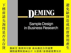 二手書博民逛書店Sample罕見Design In Business Research (wiley Classics Libra